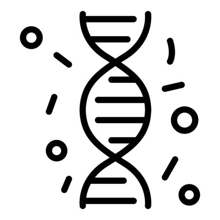 Immune dna icon, outline style Illustration
