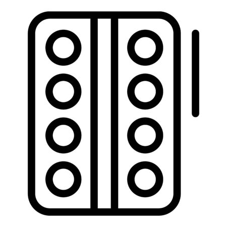 Pill pack icon, outline style