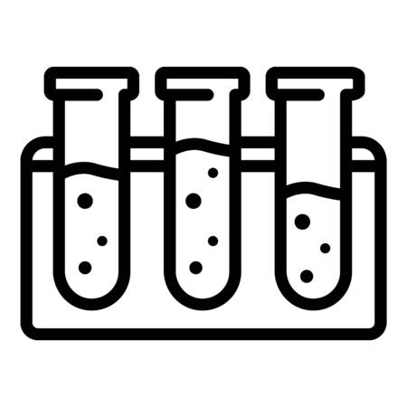 Test tube stand icon, outline style