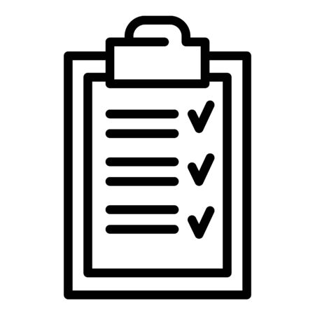 Checkboard icon, outline style