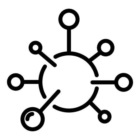 Influenza virus icon, outline style Illustration