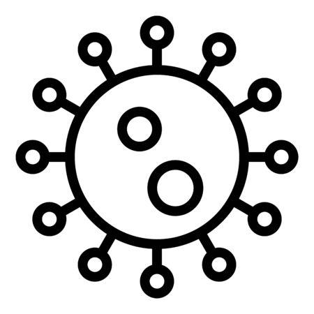Epidemic virus icon, outline style