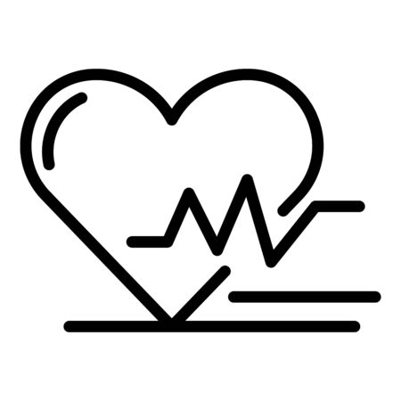 Heart rate icon, outline style