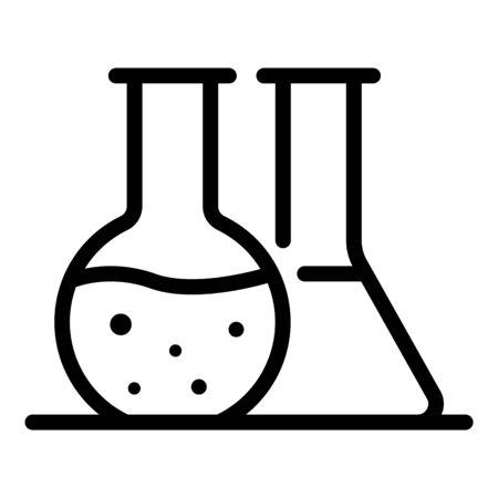 Chemical pot icon, outline style Çizim