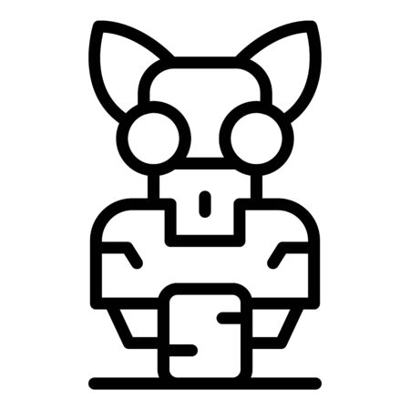 Cat robot icon, outline style