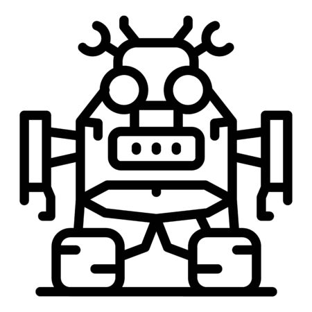 Robot transformer icon, outline style