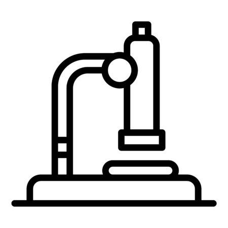 Medicine microscope icon, outline style Illustration