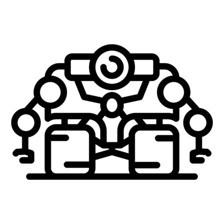 Super space robot icon, outline style
