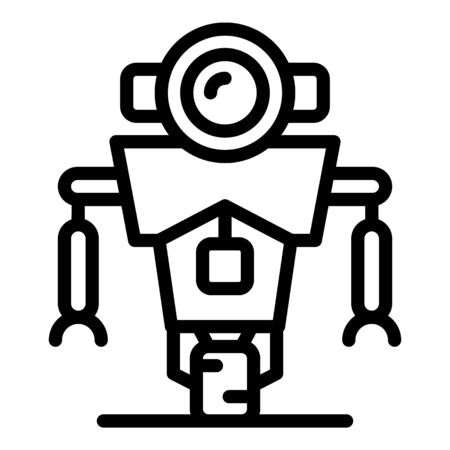 Science robot icon, outline style