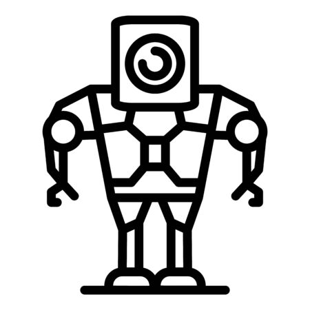 Android robot icon, outline style