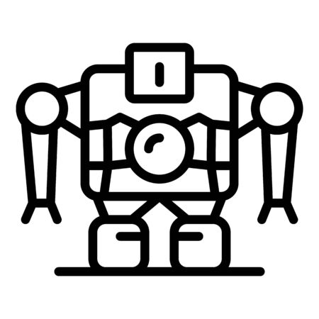 Robot machine icon, outline style Stok Fotoğraf - 131387144