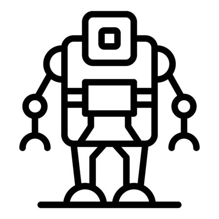 Computer robot icon, outline style Stock Illustratie