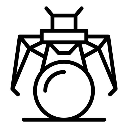 Hero robot icon, outline style