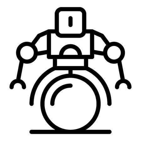 Bionic robot icon, outline style