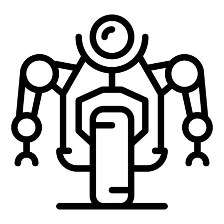 Road wheel robot icon, outline style Foto de archivo - 131402206