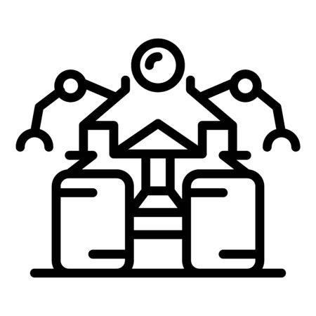 Anti bomb robot icon, outline style Ilustração
