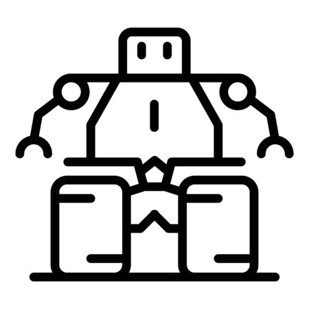 Technology robot icon, outline style Foto de archivo - 131402208