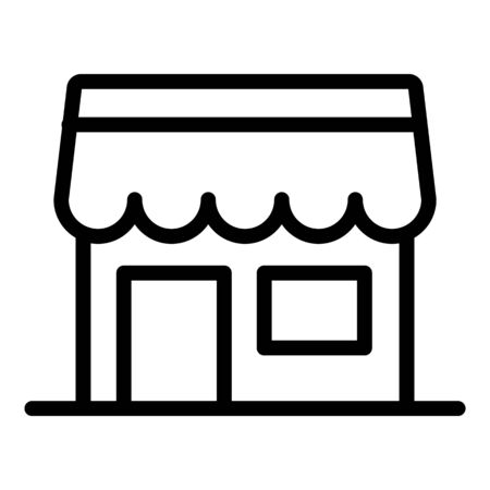 Food house icon, outline style Stock Illustratie