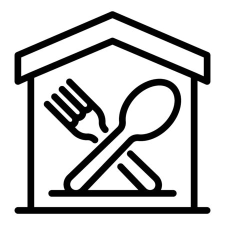 Food court icon, outline style