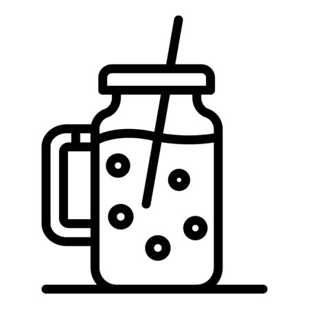 Smoothie pot icon, outline style