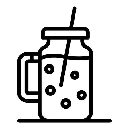 Smoothie pot icon, outline style