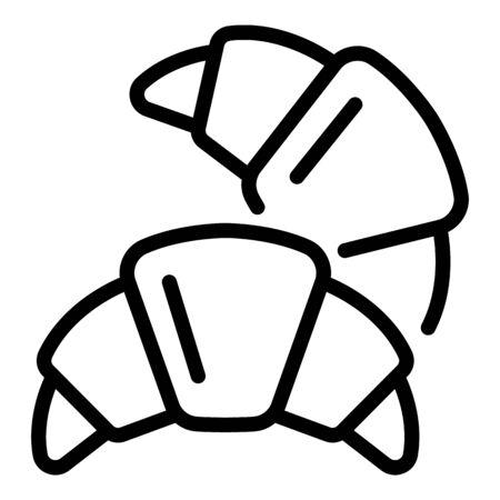 Croissant icon, outline style Illusztráció
