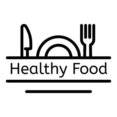 Healthy food, outline style Illustration