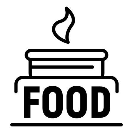 Natural food outline style Illustration