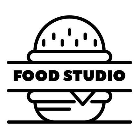Food studio outline style 일러스트