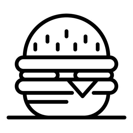 American burger icon, outline style