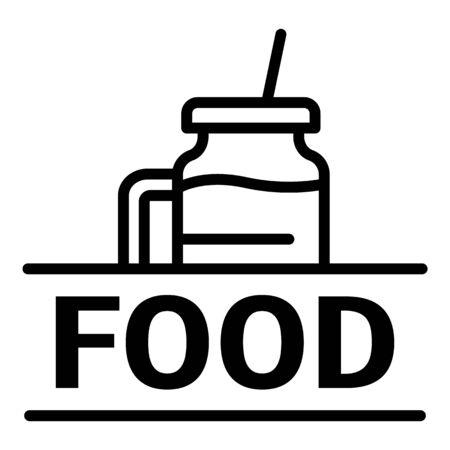 Food, outline style Illusztráció