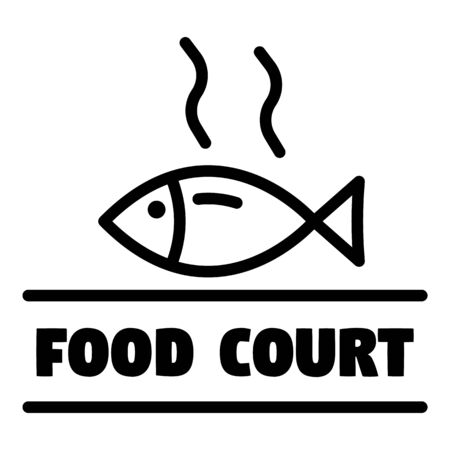 Food court, outline style