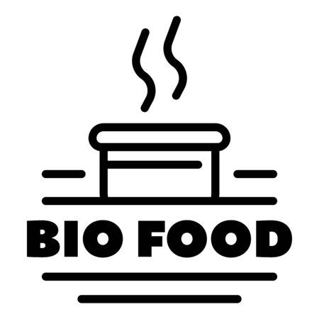 Bio food, outline style