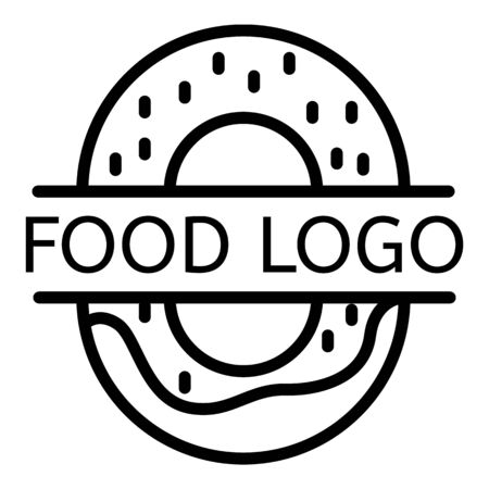 Food, outline style  イラスト・ベクター素材