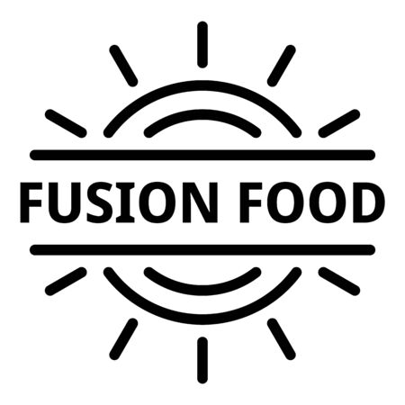 Fusion food logo, outline style