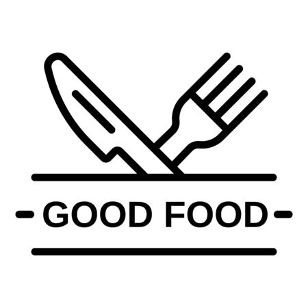 Good food logo, outline style