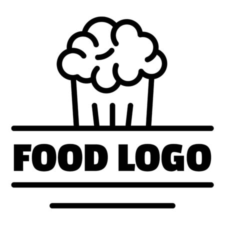 Home food logo, outline style Ilustrace