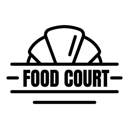 Fresh food court logo, outline style