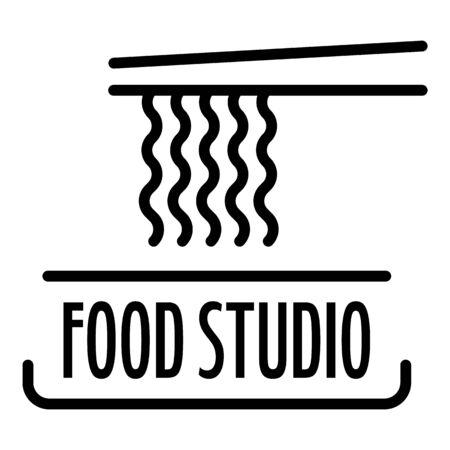 Food studio pasta logo, outline style