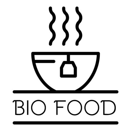 Bio food logo, outline style