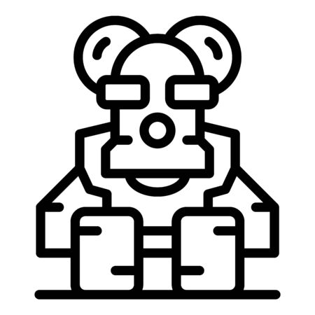 Animal robot icon, outline style