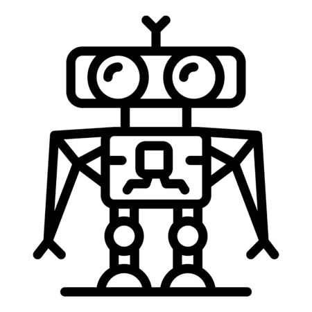 Robot soldier icon, outline style