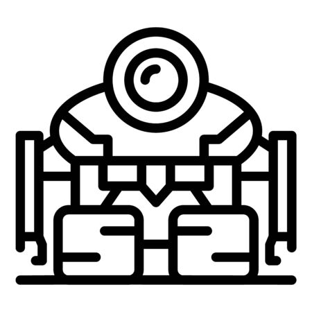 Robot cyborg icon, outline style