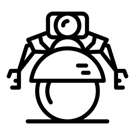 Sphere robot icon, outline style