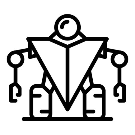 Guard robot icon, outline style