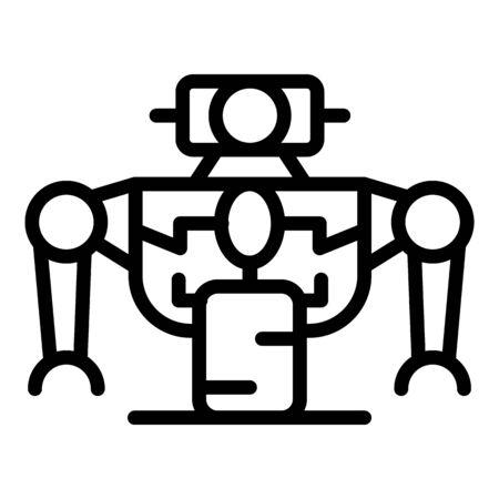 Toy robot icon, outline style Illusztráció