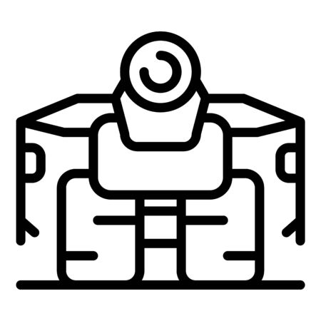 Wheels robot icon, outline style