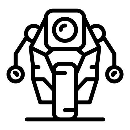 Future robot icon, outline style