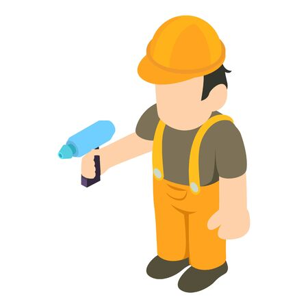 Handyman icon. Isometric illustration of handyman vector icon for web