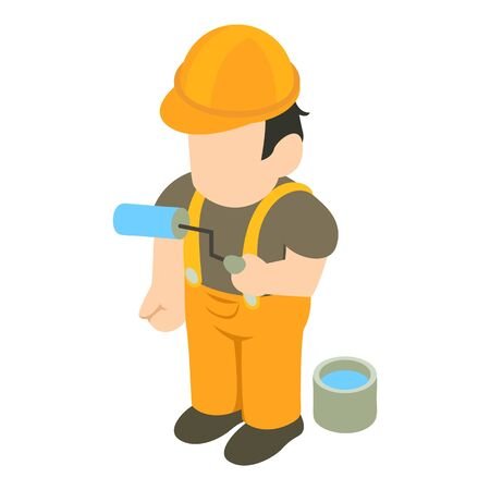 Painter icon. Isometric illustration of painter vector icon for web Banco de Imagens - 131449454
